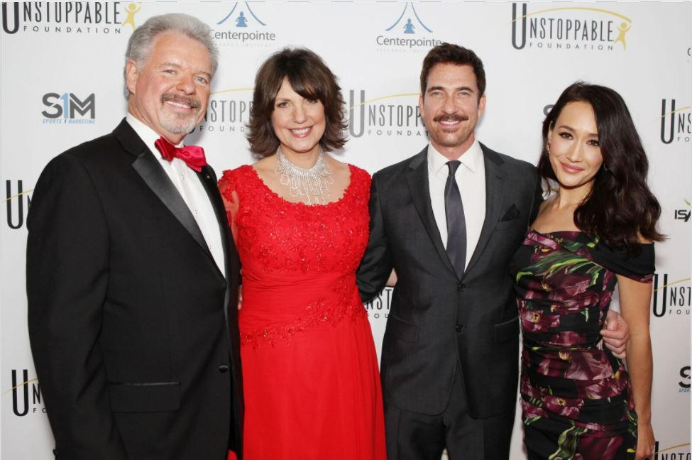 Gala Co-chairs Dylan McDermott and Maggie Q with Cynthia Kersey and Blaine Bartlett at the 2017 Gala.