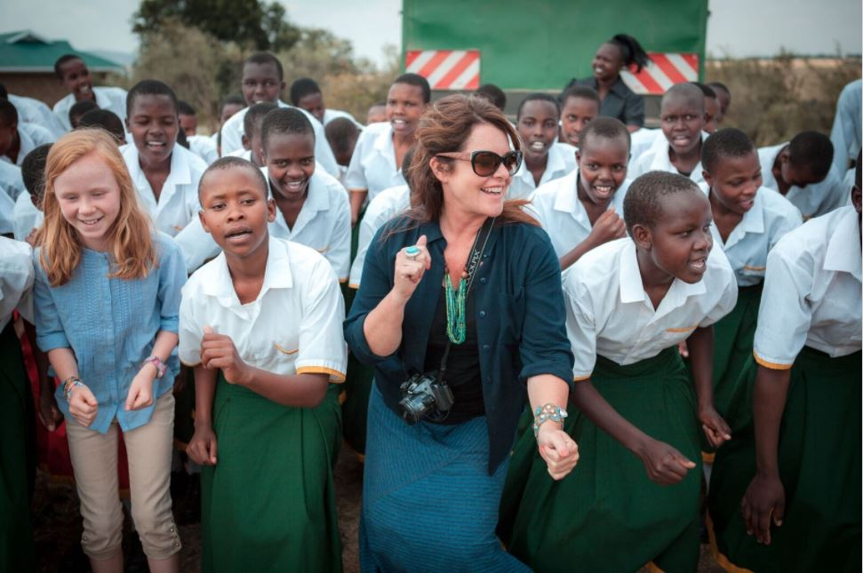Sandy Gallagher during a recent visit to Kenya.