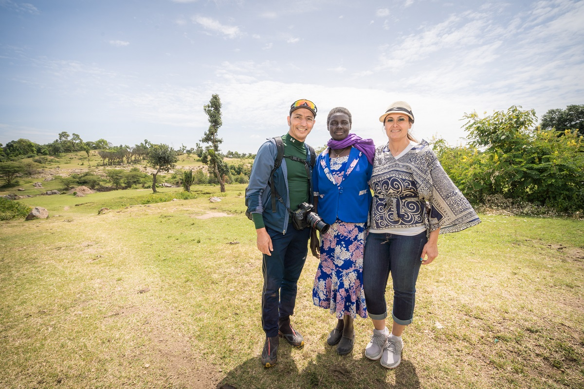 Peymaneh and Emad with Mama Jane in Kenya